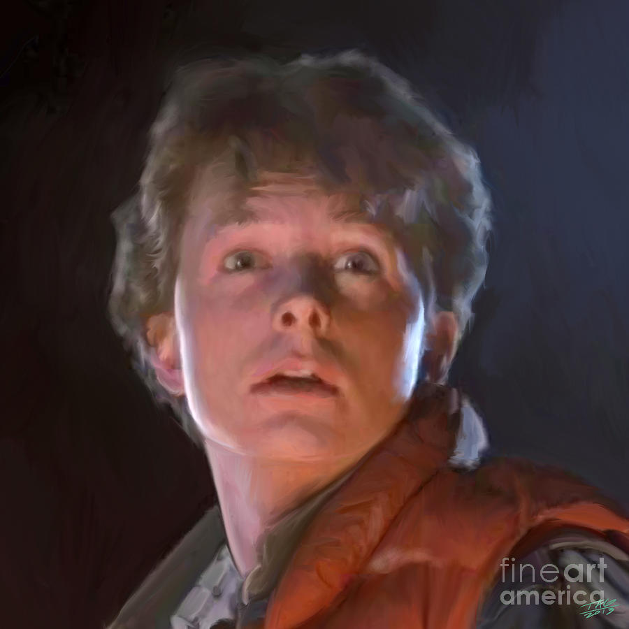 Doc Painting - Marty Mcfly by Paul Tagliamonte