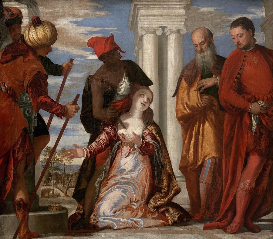 Cinquecento Painting - Martyrdom Of Saint Justina by Paolo Veronese