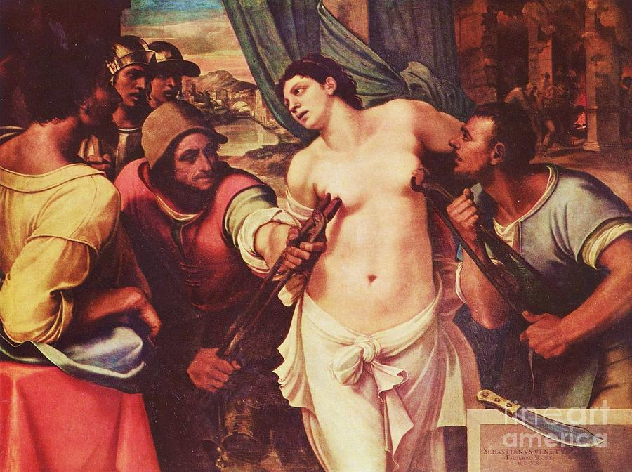 Pd Painting - Martyrdom Of St Agatha by Pg Reproductions