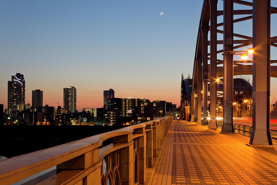 Maruko-bashi Bridge On Tama-gawa River Photograph by Tetsuya Aoki