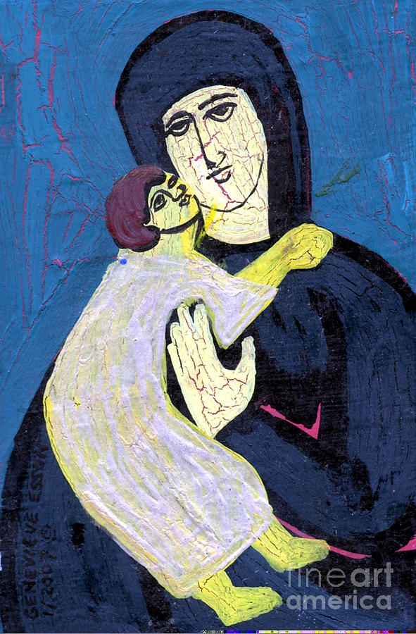 Jesus Painting - Mary And The Baby Jesus by Genevieve Esson