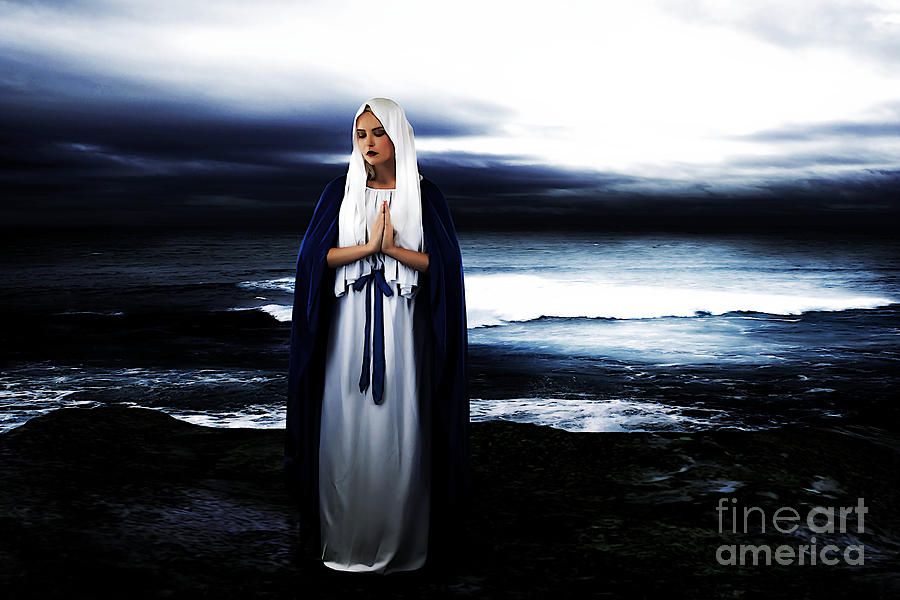 Mary Photograph - Mary By The Sea by Cinema Photography