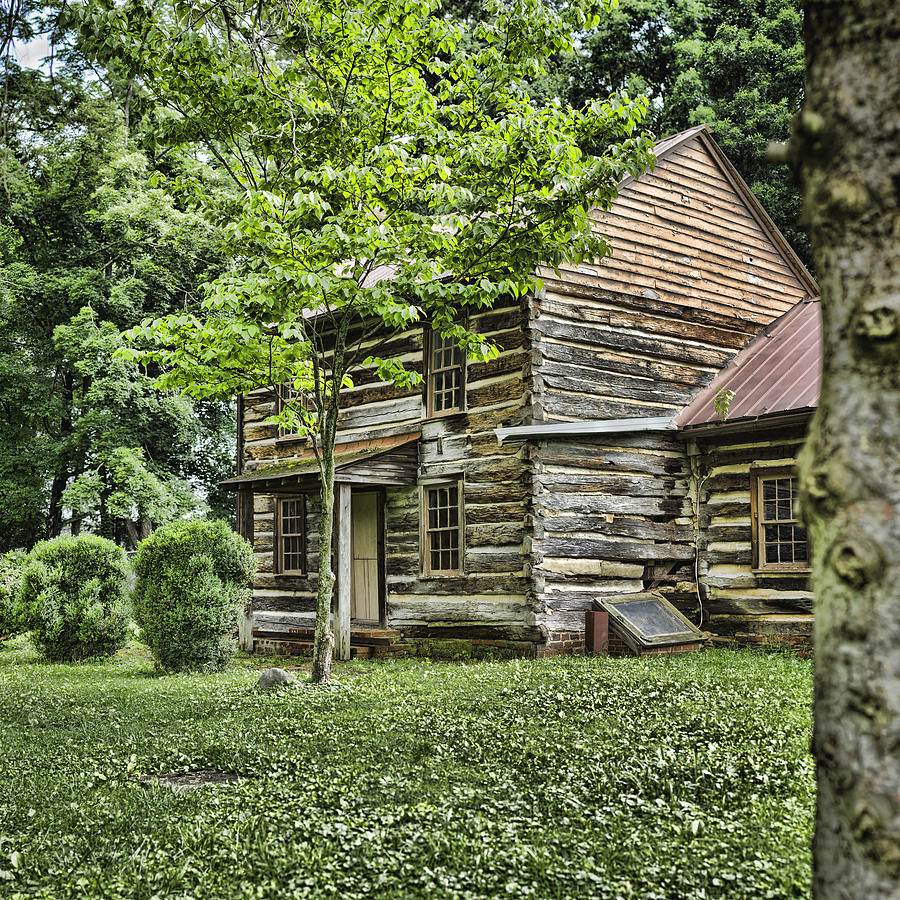 Log Cabin Photograph - Mary Dells House by Heather Applegate