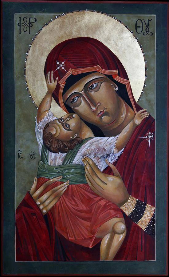 Religious Painting - Mary Kadiotissa by Mary jane Miller