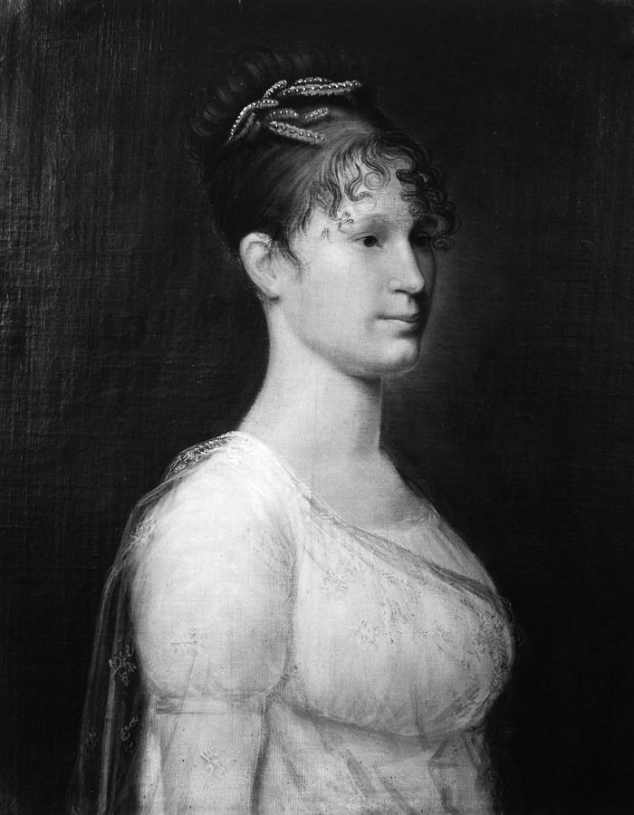 19th Century Painting - Mary Lee Fitzhugh Custis (1788-1853) by Granger