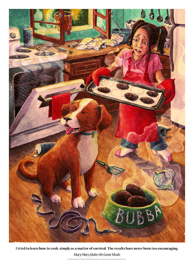 Humor Painting - Mary Mary Quite On Great Meals by David Condry