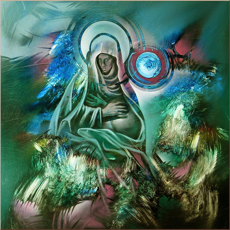 Mother Painting - Mary Mother Of Jesus by Glenn Bautista