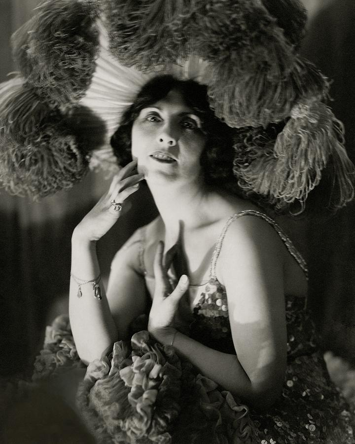 Mary Nash Wearing A Headdress Photograph by Edward Steichen