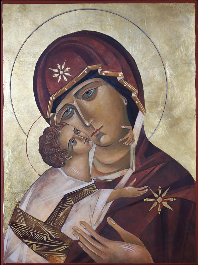 Religious Painting - Mary Of Valdamir by Mary jane Miller