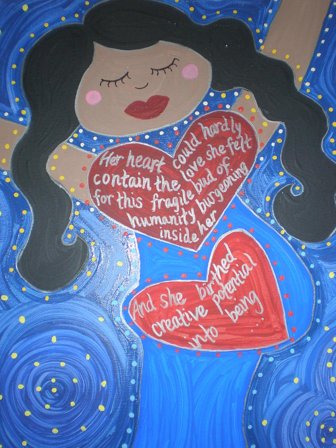 Icon Painting - Mary Our Mother by Angela Yarber