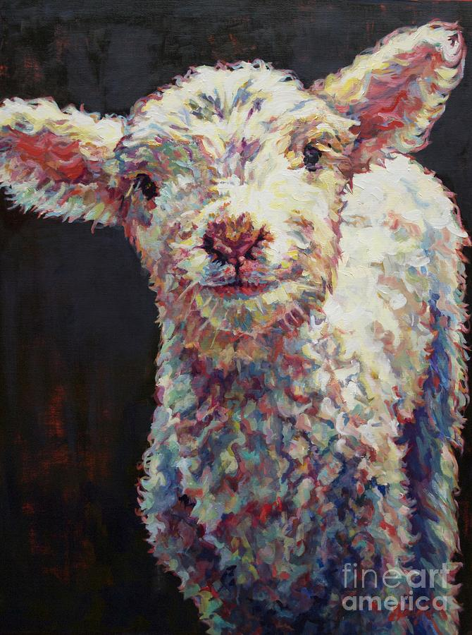 Ovine Painting - Mary by Patricia A Griffin