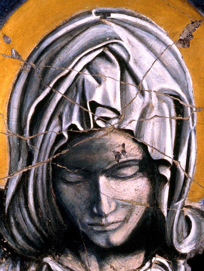 Spiritual Painting - Mary Super Petram - Study No. 1 by Steve Bogdanoff
