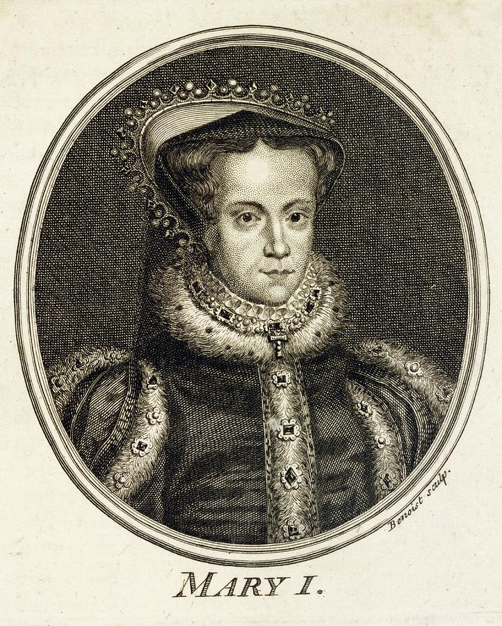 Mary Drawing - Mary Tudor  Catholic Queen Of England by Mary Evans Picture Library