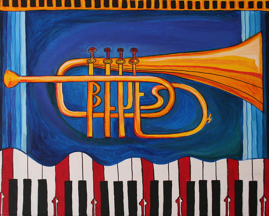 Trumpet Painting - Maryland Blues Trumpet by Kate Fortin