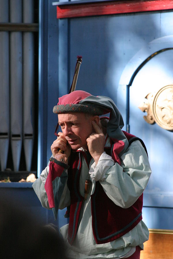 Maryland Photograph - Maryland Renaissance Festival - A Fool Named O - 12122 by DC Photographer