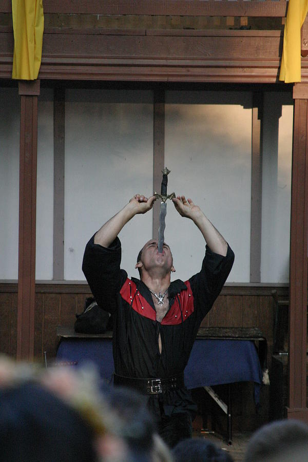 Maryland Photograph - Maryland Renaissance Festival - Johnny Fox Sword Swallower - 1212124 by DC Photographer