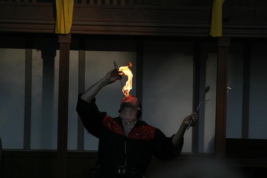 Maryland Photograph - Maryland Renaissance Festival - Johnny Fox Sword Swallower - 121289 by DC Photographer