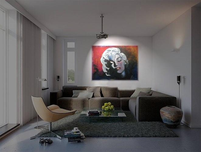 Marilyn Monroe Painting - Marylin Monroe In The Living Room by Ri Mo