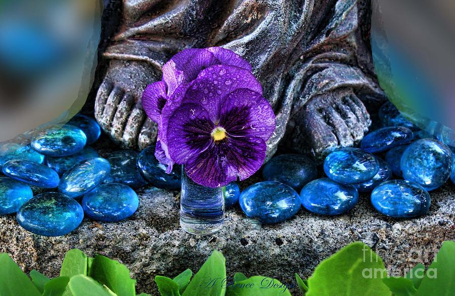 Catholic Photograph - Marys Feet by Renee Marie Martinez