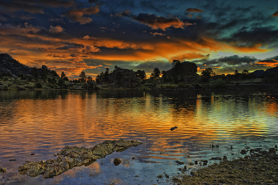 Colorado Photograph - Marys Lake Sunrise by Tom Wilbert