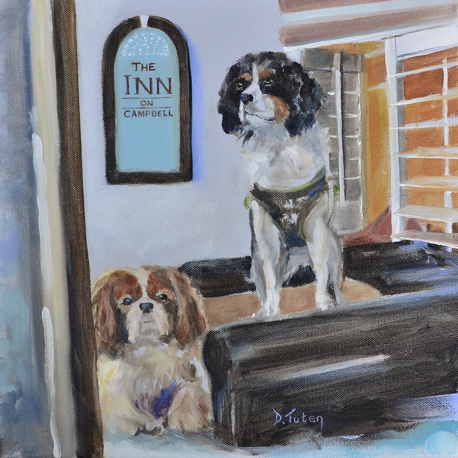 Cavalier Painting - Mascots Of The Inn by Donna Tuten