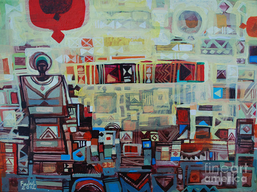 Maseed Maseed 2 Painting by Mohamed Fadul