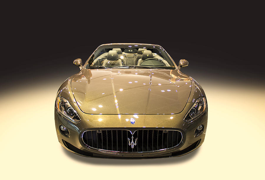 maserati gold colour photograph by radoslav nedelchev