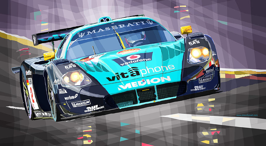 Automotive Digital Art - Maserati Mc12 Gt1 by Yuriy Shevchuk