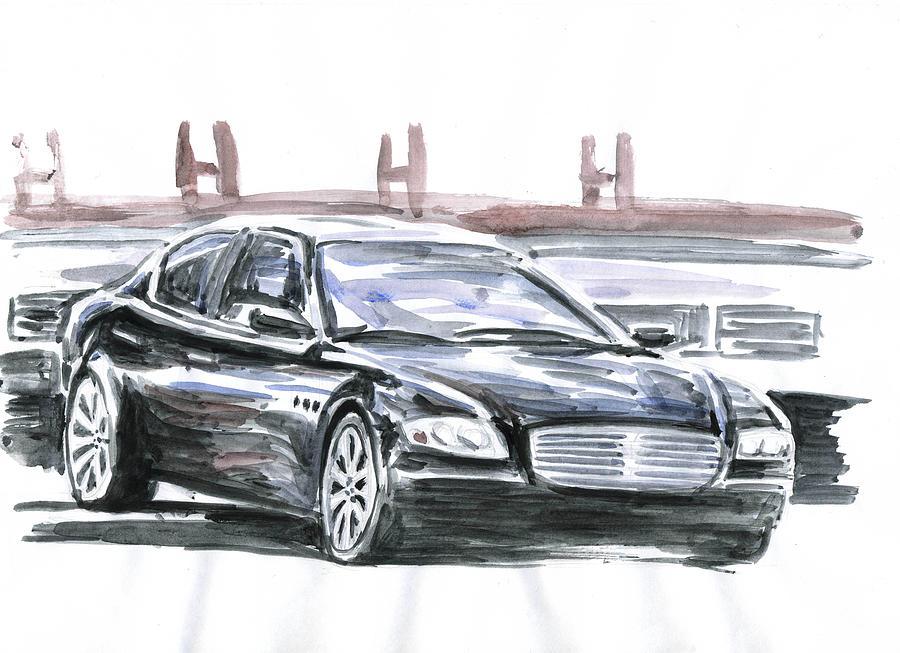 Auto Painting - Maserati Quattroporte by Ildus Galimzyanov