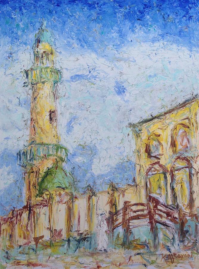 Paint Painting - Masjed by Khalid Alzayani