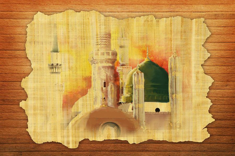 Islamic Painting - Masjid E Nabwi 02 by Catf