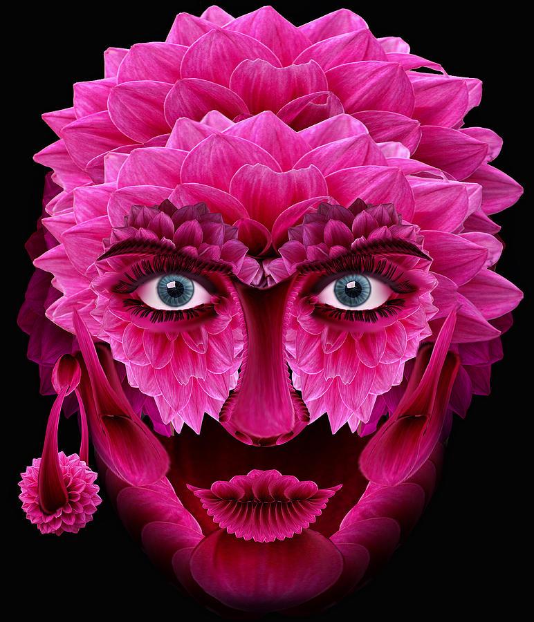 Ancient Digital Art - Mask by Bogdan  Bratu
