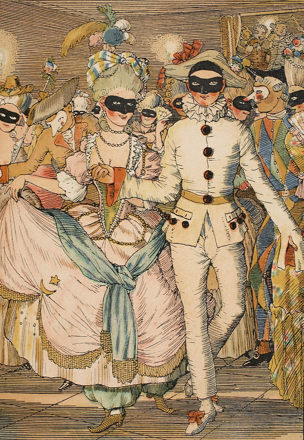 Fun Painting - Masked Ball by Konstantin Andreevic Somov
