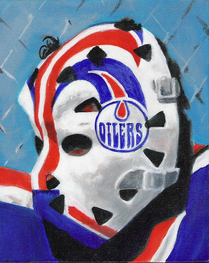 Grant Fuhr Painting - Masked Fuhr by Paul Smutylo