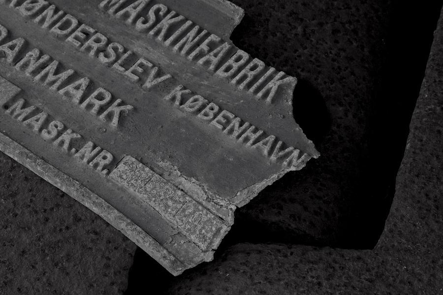 Name Plate Photograph - Maskinfabrik by Odd Jeppesen