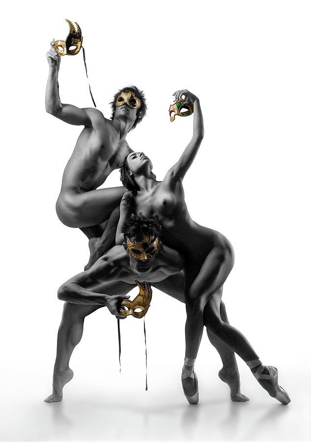 Fine Art Nude Photograph - Masks Iv by Ddiarte
