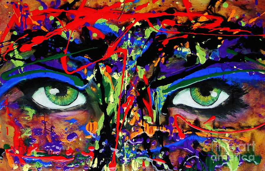 Abstract Painting - Masque by Michael Cross