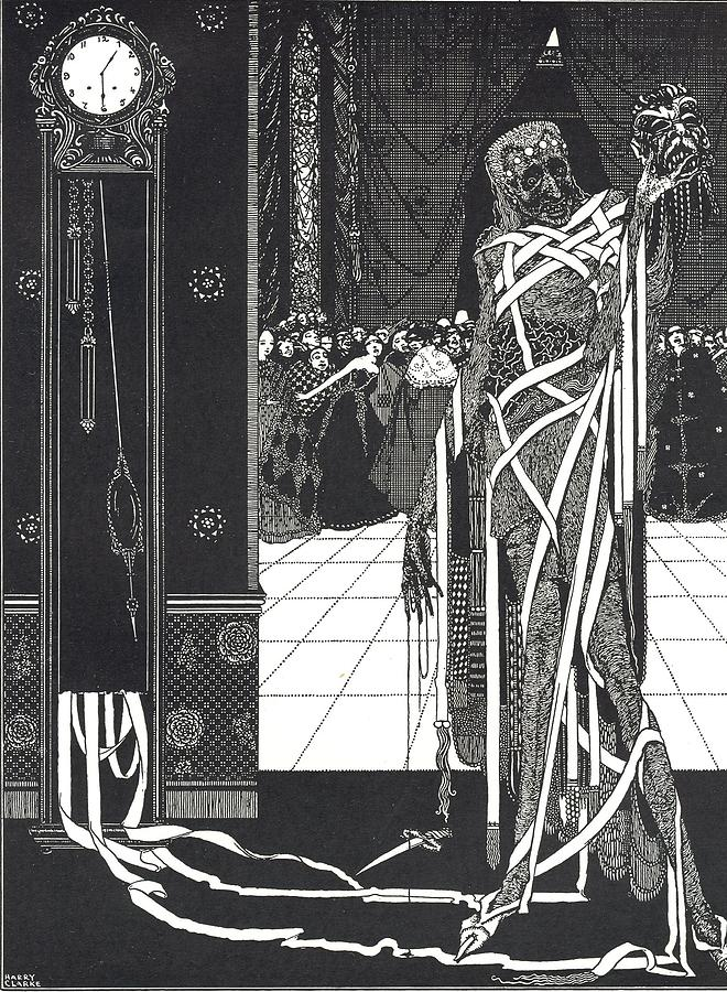 Harry Drawing - Masque Of The Red Death by Harry Clarke