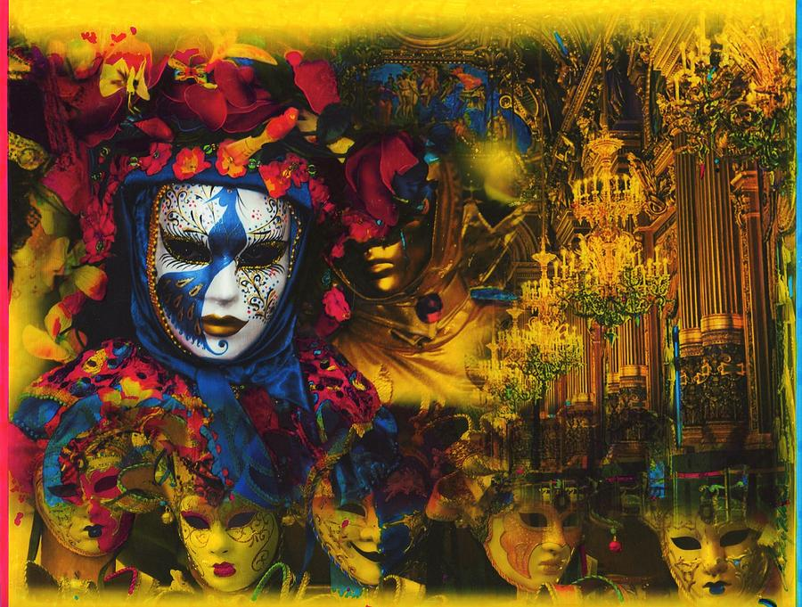 Mardi Gras Painting - Masquerade 2 by Anthony Whelihan
