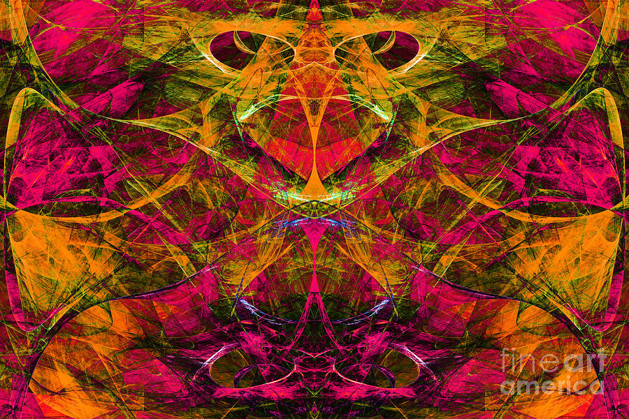 Fractal Digital Art - Masquerade 20140128 by Wingsdomain Art and Photography