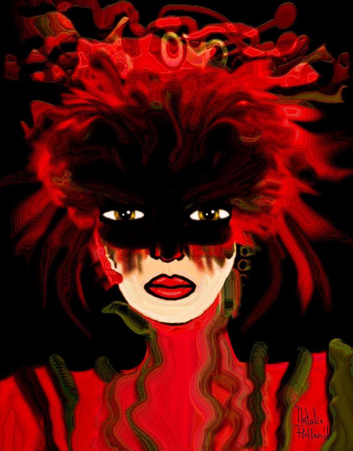 Woman Mixed Media - Masquerade Ball by Natalie Holland