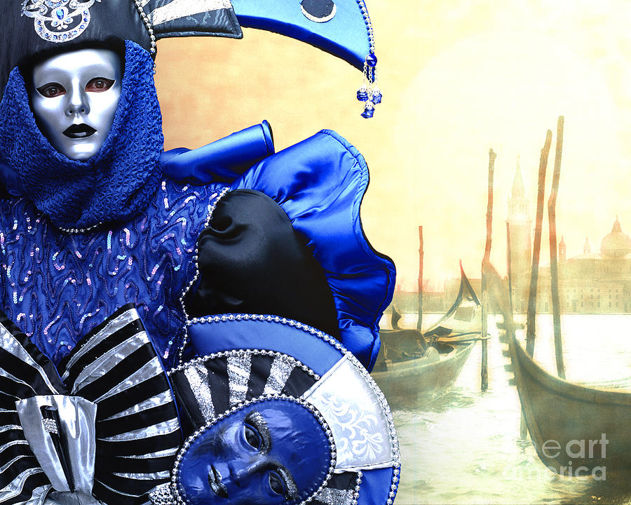 Venice Photograph - Masquerade by Edmund Nagele