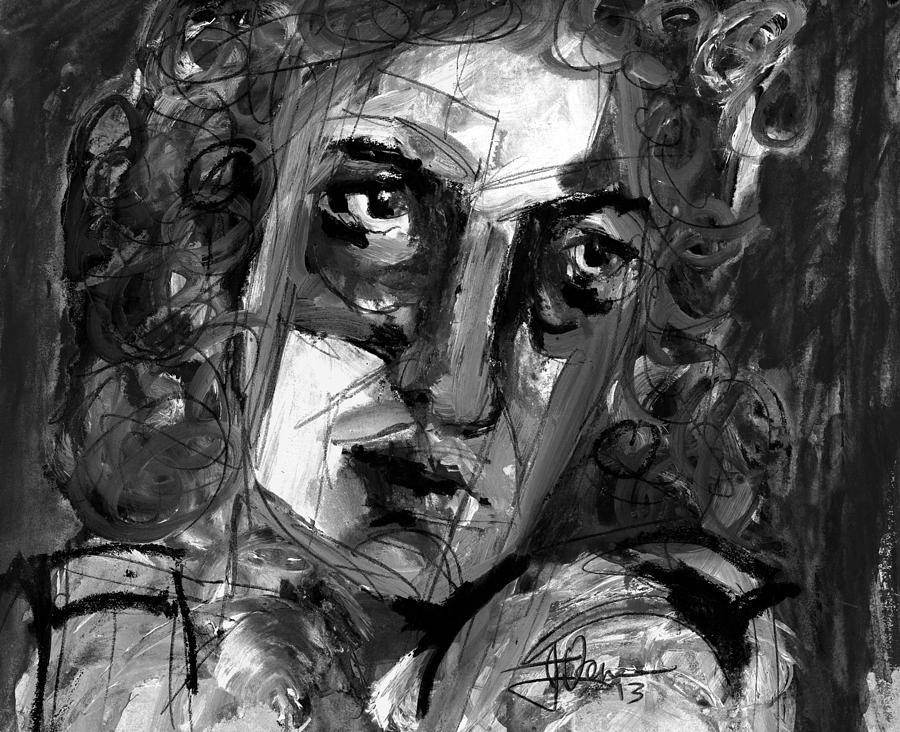 Face Mixed Media - Masquerade II by Jim Vance
