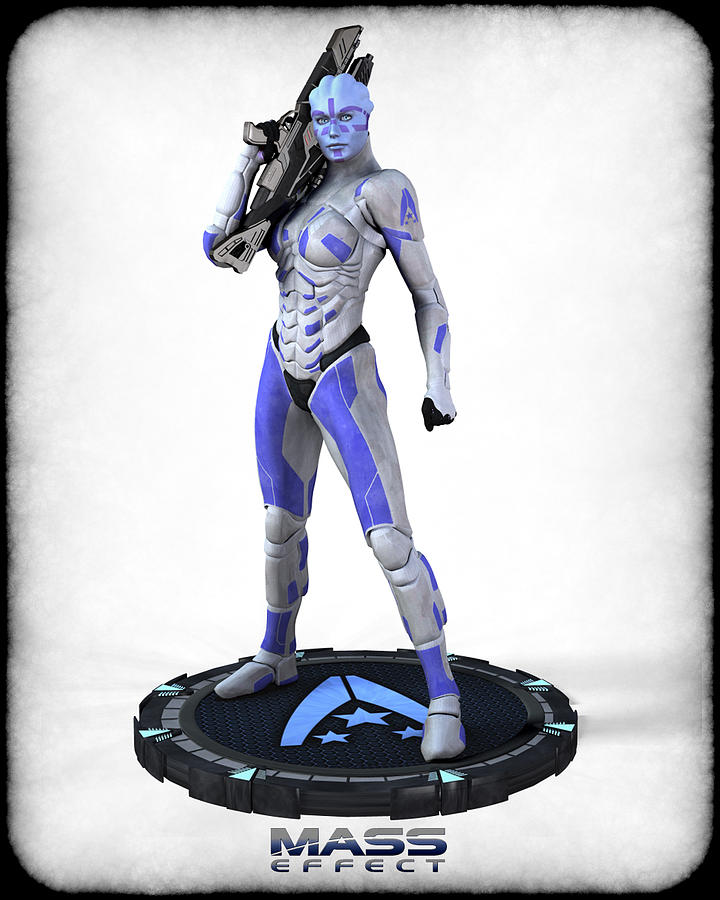 Mass Effect Digital Art - Mass Effect - Asari Alliance Soldier by Frederico Borges
