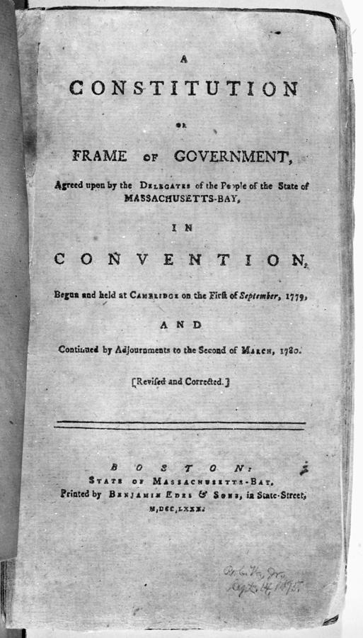 1780 Painting - Massachusetts Constitution by Granger