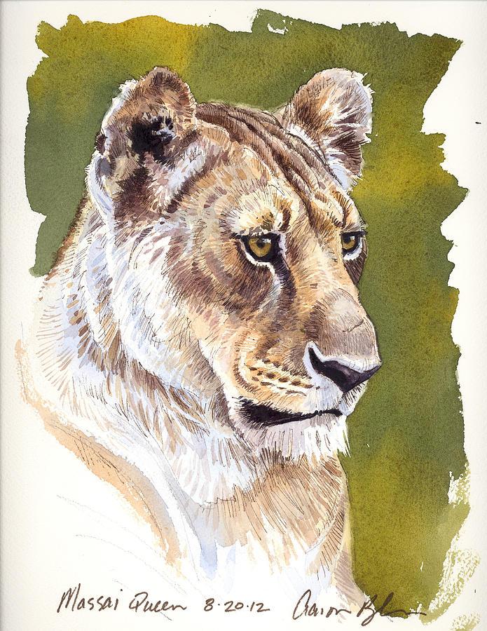Lion Digital Art - Massai Queen by Aaron Blaise