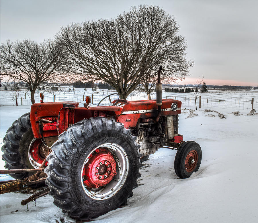 Red Tractor Art : Massey ferguson photograph by garvin hunter