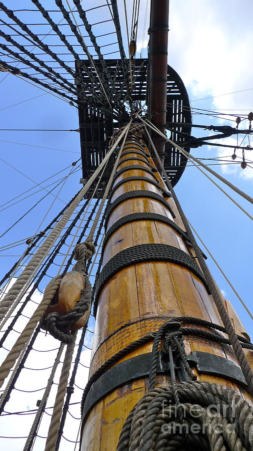 Mast - The East India Replica ship Photograph by Leif Sodergren