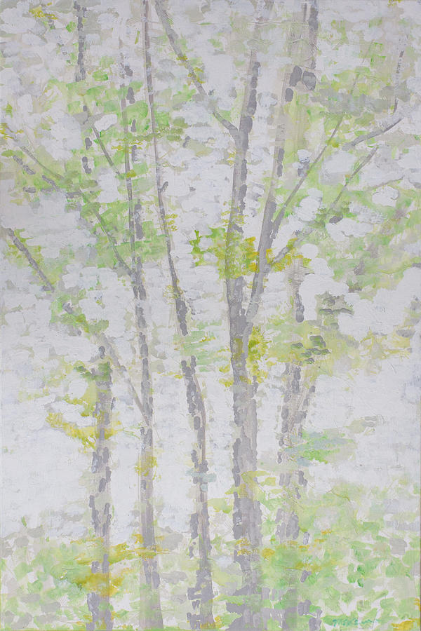 Trees Painting - Master Bedroom by Molly Benson
