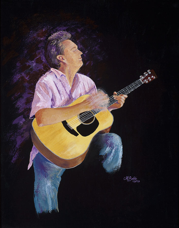 Music Painting - Master In The Spotlight by Margaret Bobb